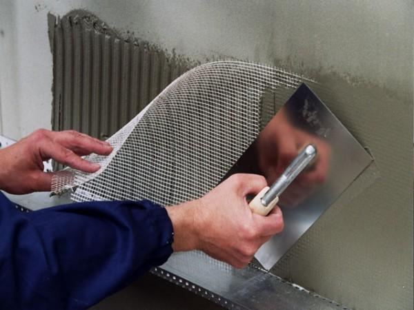 Использование фасадной стеклосетки в штукатурных работах