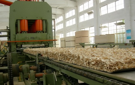 Линия производства плит ОСБ