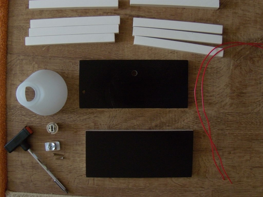 Необходимые материалы для настольного светильника