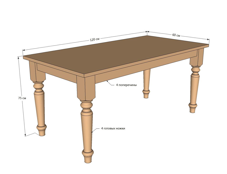 Как сделать кухонный стол из дерева своими руками чертежи фото 154