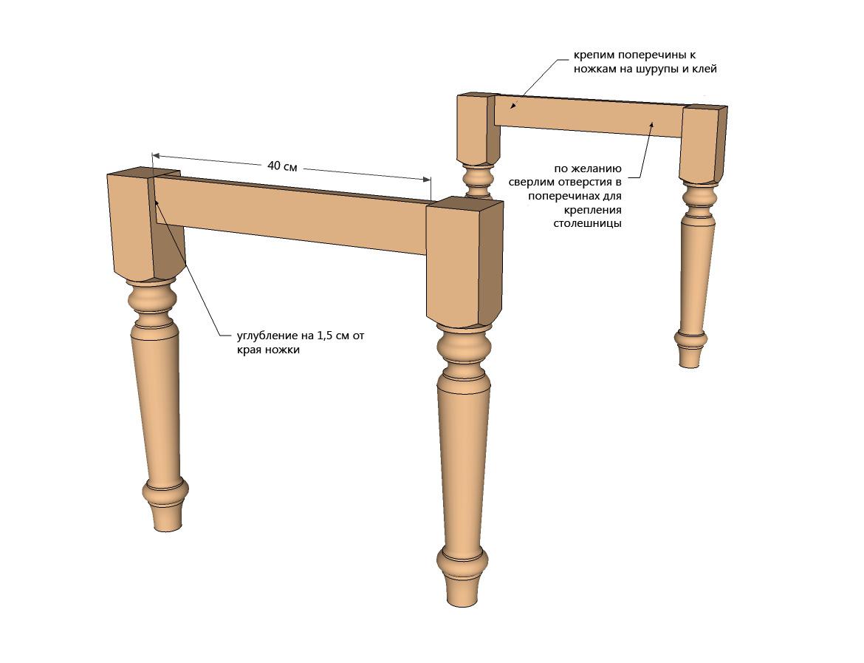 Ножки для стола стула своими руками