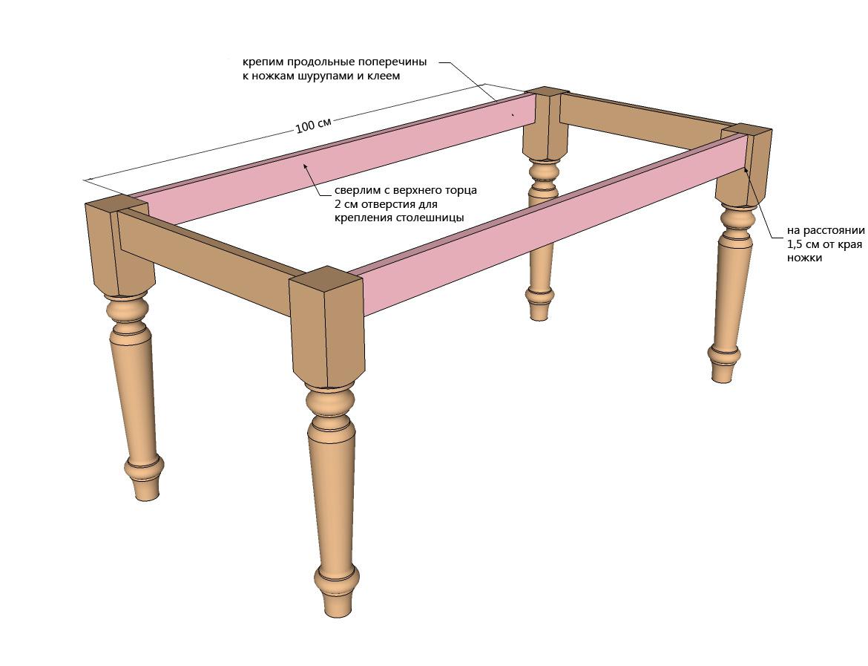 Как сделать кухонный стол из дерева своими руками чертежи фото 685