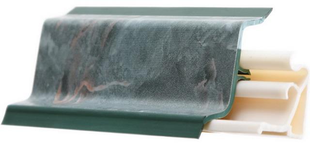 Фигурный плинтус (без вкладыша) без монтажного пространства с наружными силиконовыми вставками