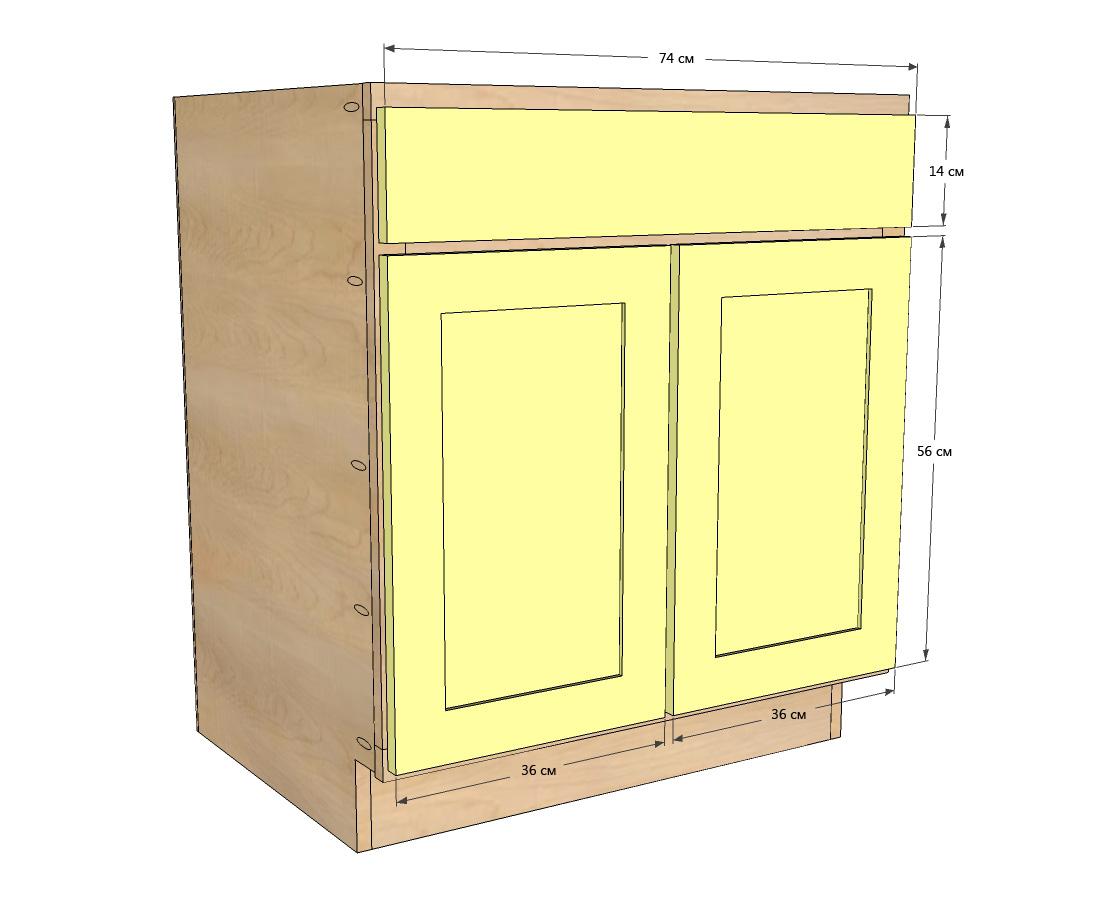 Сделать стол-шкаф своими руками