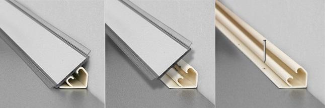 силиконовые вкладыши (упираются в поверхность стола и стены)