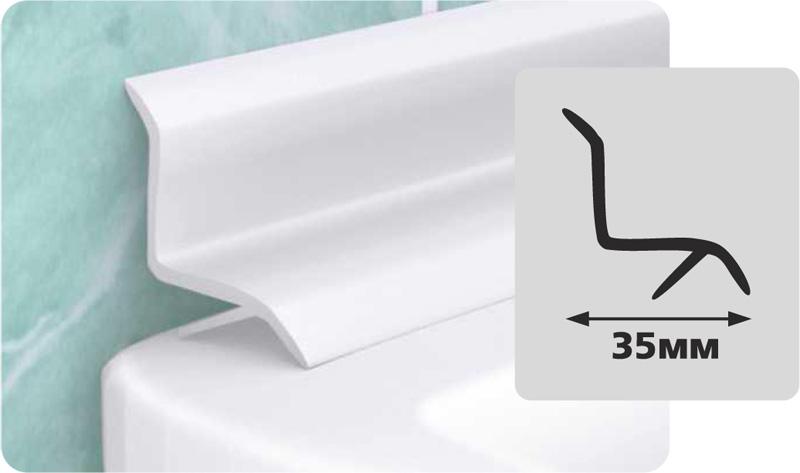 Чем заделать щель между ванной и стеной: бордюр