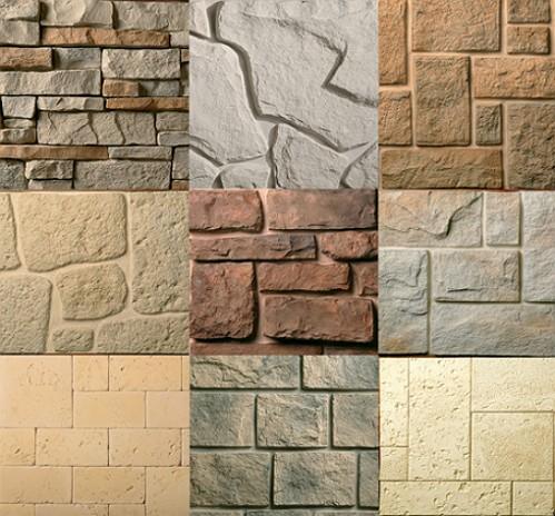 Различные текстуры искусственного камня для отделки дверных проемов