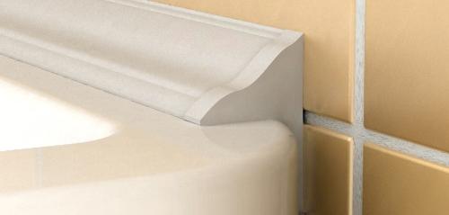 Чем заделать щель между ванной и стеной: пластиковые плинтусы для кухни