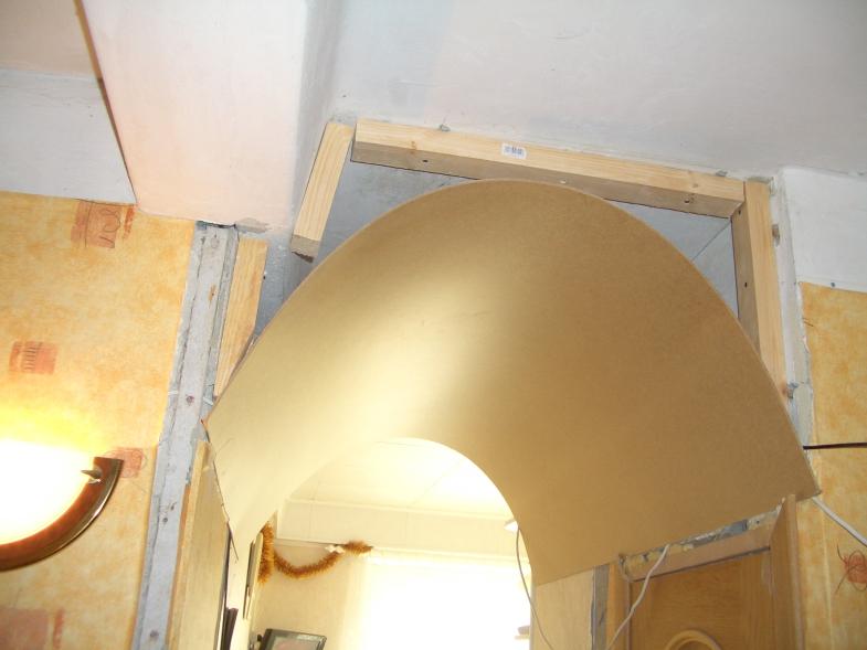 Примерка листа для арки