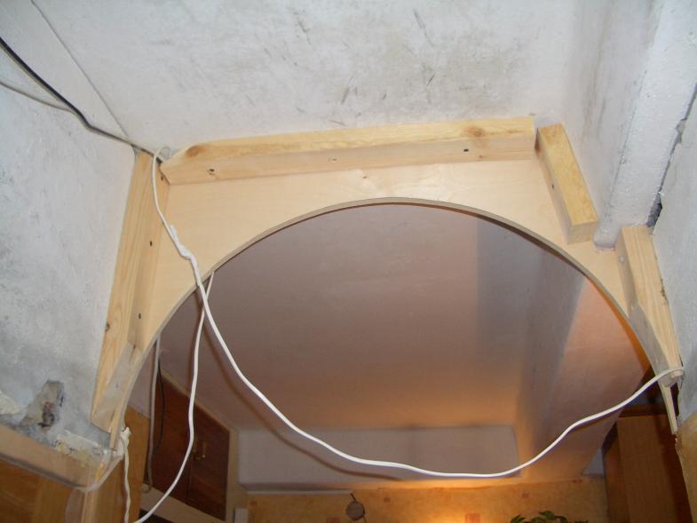 Установка торцевых панелей арка из фанеры своими руками