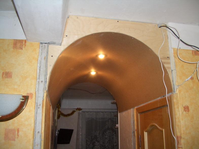 Готовая арка своими руками из фанеры