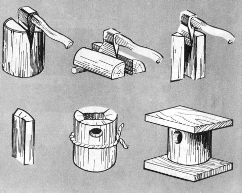 Скворечник-ромбик и скворечник-кубик