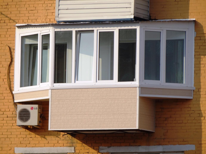Балкон с выносом пола