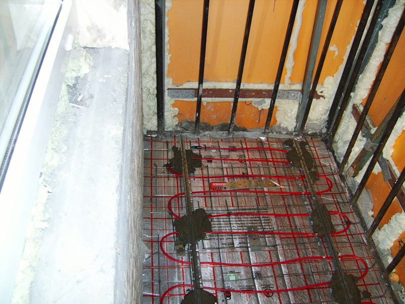 Теплый пол на балконе от центрального отопления..