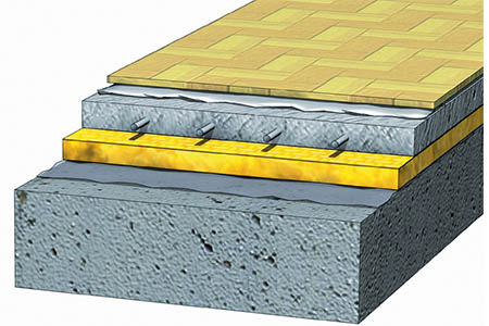 Плавающий пол на бетонной стяжке