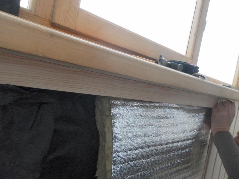 Монтаж утеплителя на балконе с выносом своими руками