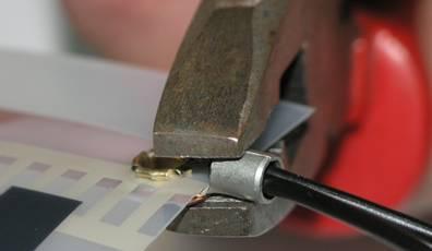 Соединение зажимов с контактными медными шинами