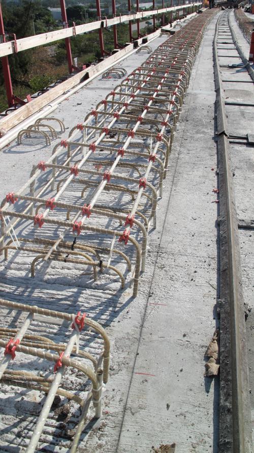 Стеклопластиковая арматура в опорах мостов