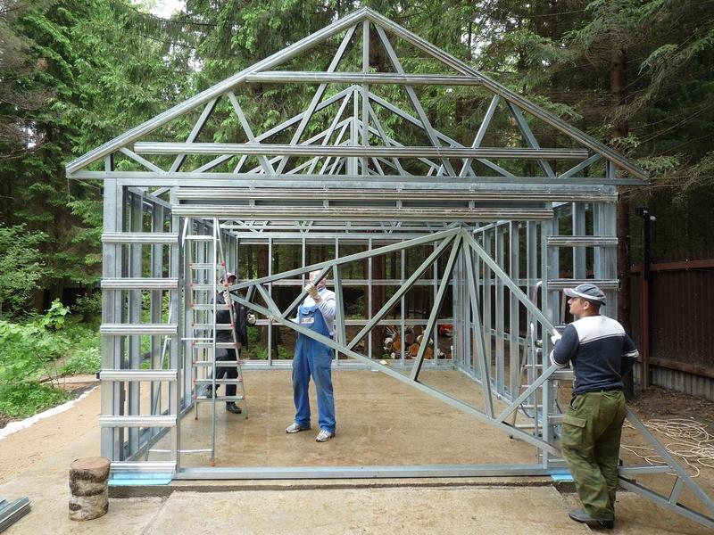 Металлический гараж своими руками – как сделать металлический гараж