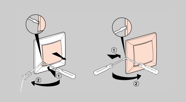 Разбор одноклавишного выключателя