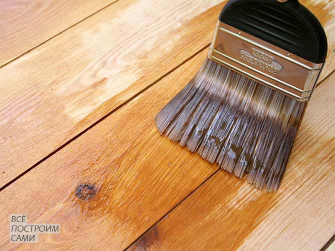 Покраска деревянных поверхностей