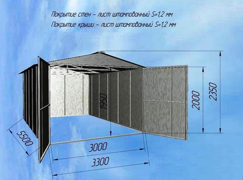 Как построить металлический гараж своими руками