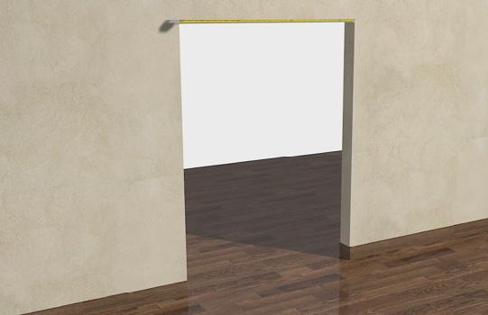 Замер размеров проема двери