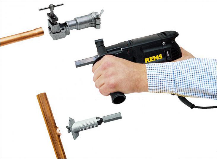 Использование расширителя для труб