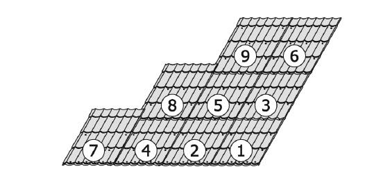 Последовательность монтажа листов металлочерепицы