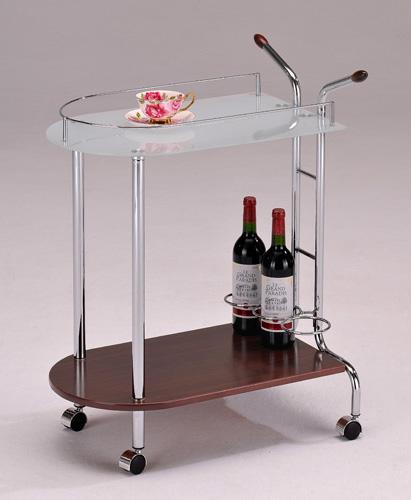 Сервировочный столик с подставкой для бутылок