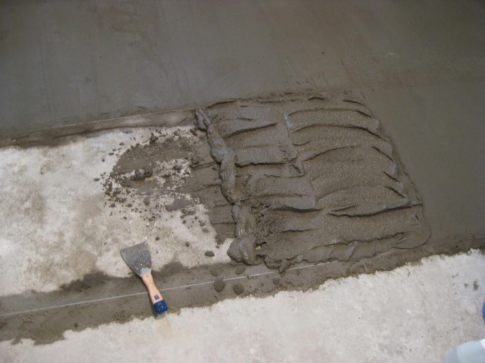 Заливка цементным раствором