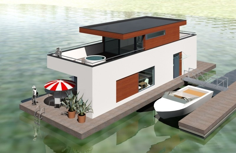 Проект дома на воде