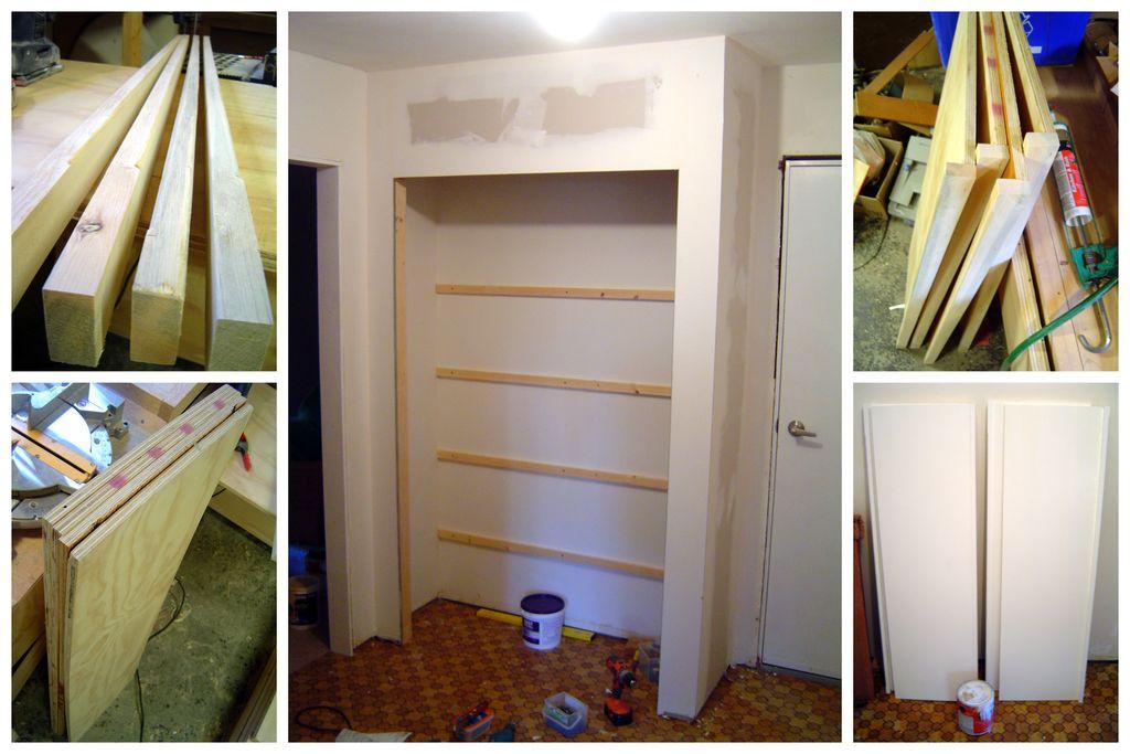 Built-in wardrobe - do it yourself.
