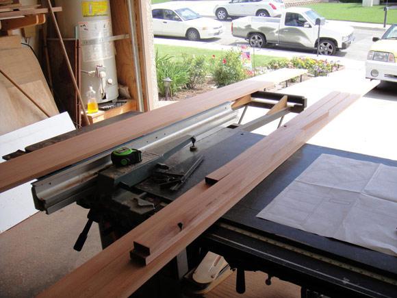 Доски для каркаса стола