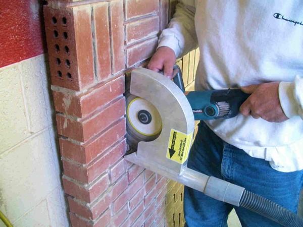 Штробление стен штроборезом без пыли