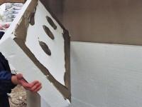 Самостоятельное утепление стен дома пенопластом