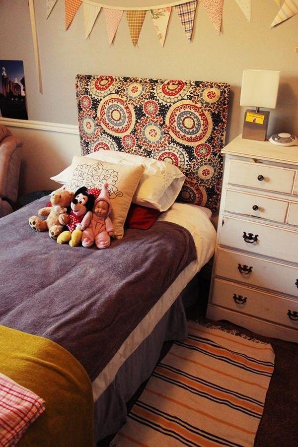 Как самому сделать мягкое изголовье детской кровати