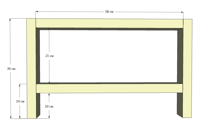 Конструкция опор стола