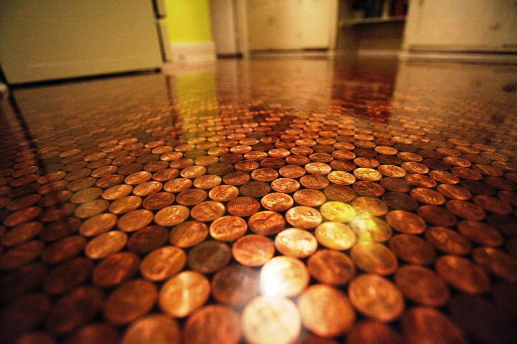 3d пол из монет
