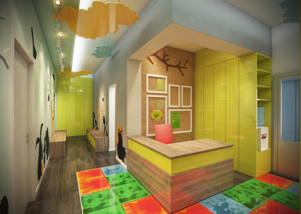 Дизайн офиса с использованием жидкой плитки