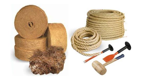 Материалы для конопатки сруба дома