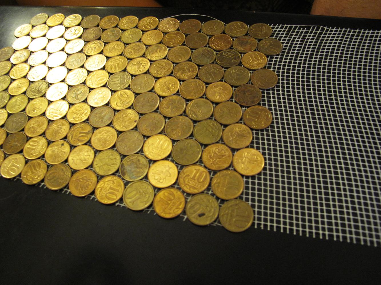 Декор из монет копеек своими руками фото