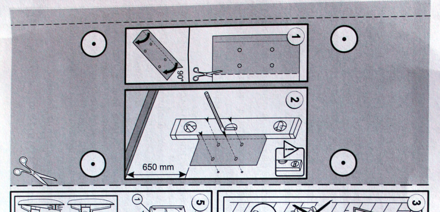 Бумажный шаблон под отверстия