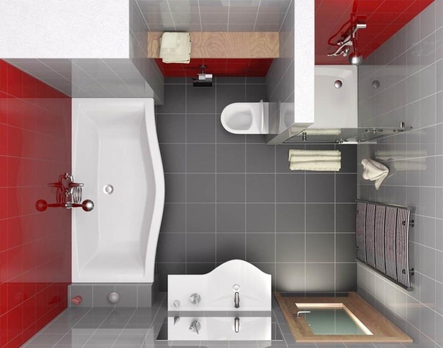 Идея перепланировки в ванной