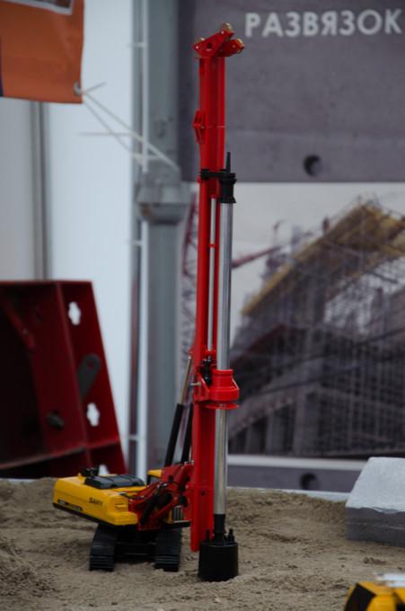 Модель буровой установки SANY для буронабивных свай