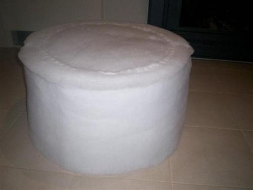 Обмотка пуфика поролоном