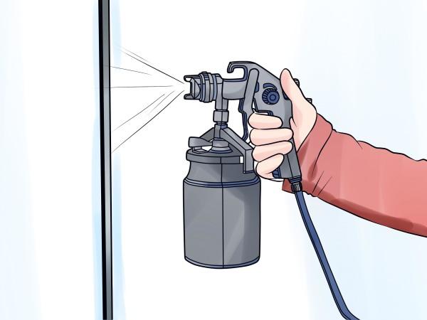 Окрашивание пульверизатором