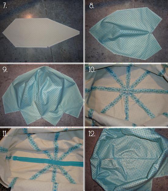Схема раскройки пуфика