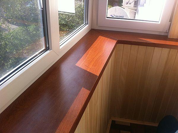 Ширина подоконника на балконе