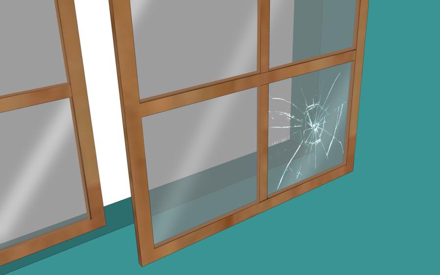 Замена разбитого стекла в окне